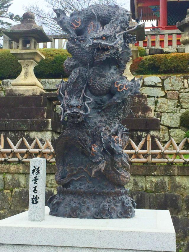 京都のパワースポット 清水寺 龍