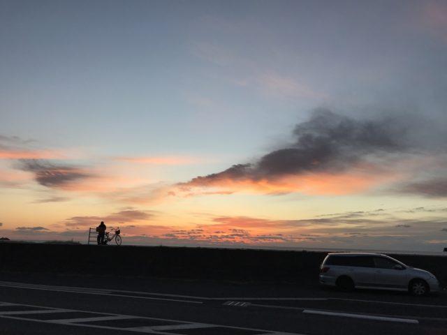 七里御浜 朝焼け sunrise
